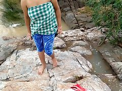 Risky Public Outdoor Indian Sex With Sister Near Flowing River